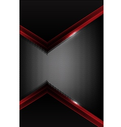 Dark carbon fiber and red overlap element abstract vector