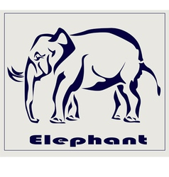 Elephant icon tattoo vector