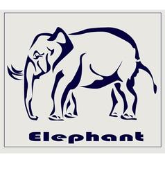 Elephant icon tattoo vector