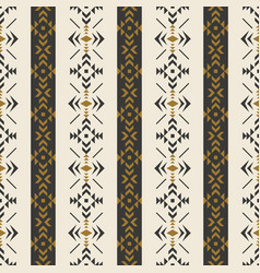 Ethnic seamless pattern with geometric ornament vector