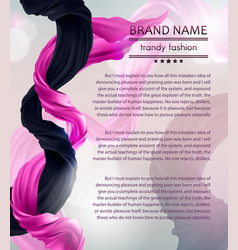 Fashion banner with flying silk fabric vector