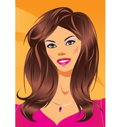 Fashion woman with a new hairstyle vector image