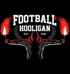 football hooligan vector image