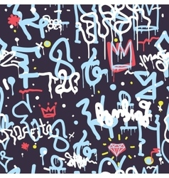 Graffiti seamless pattern color vector