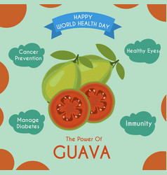 Guava and its benefits vector