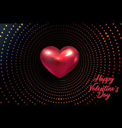 happy valentine s day holiday of vector image