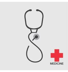 icon stethoscope vector image