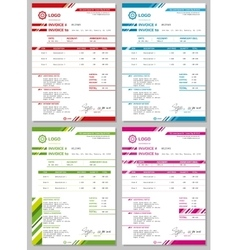 Invoice templates set vector image