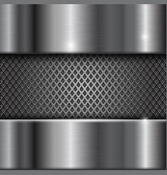 Metal stainless steel shiny background with vector