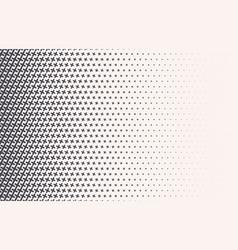 monochrome halftone gradient with crosses vector image