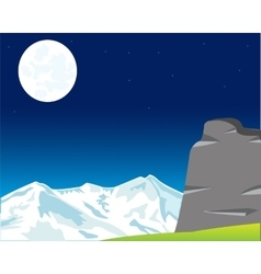 Moon landscape in mountain vector image
