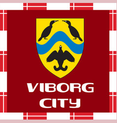 national ensigns of denmark - viborg city vector image vector image