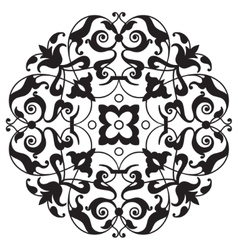 Oriental decorative element Zentangle mandala vector image