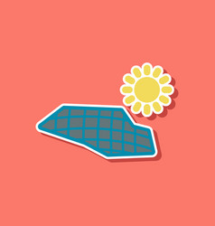 paper sticker on stylish background of solar vector image
