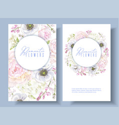 peont anemone banners vector image