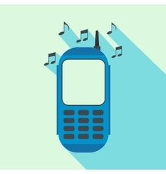 Phone with music flat icon vector