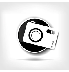 Photo camera web icon vector