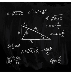 Rectangular triangle formulas vector