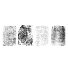 Retro grungy frames collection vector
