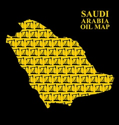 Saudi Arabia oil map Silhouette of desert maps of vector
