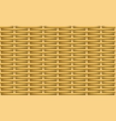 seamless brown weave rattan pattern art vector image