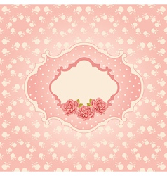 Seamless floral background greeting card template vector