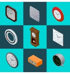 Set of elegant clocks Pendulum clock modern vector image