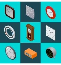 Set of elegant clocks pendulum clock modern vector