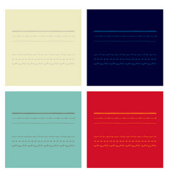 set of vintage frames on a white background vector image