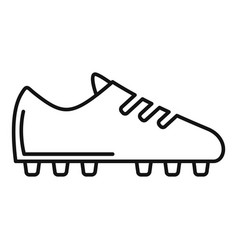 soccer boot icon outline style vector image