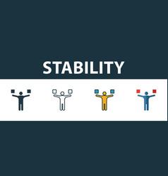 Stability icon set premium symbol in different vector