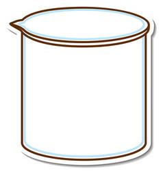 Sticker laboratory glassware on white background vector