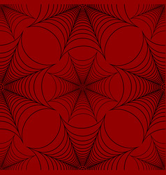 Stylized spider web seamless pattern black and red vector