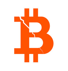 symbol of the digital crypto currency bitcoin with vector image