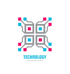 technology - concept business logo template vector image