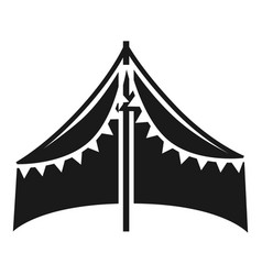 Tent shed icon simple style vector