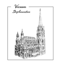 Vienna dom stephansdom vector