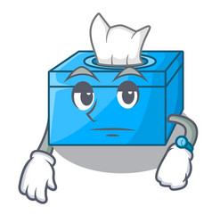 Waiting tissue box isolated on the mascot vector