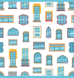 window flat icons background or pattern vector image