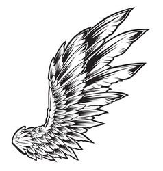 Wings bird black white 222 vector