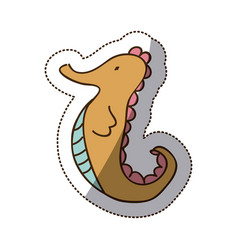 brown sea horse icon stock vector image