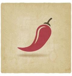 chili old background vector image