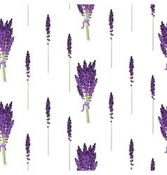 Lavender seamless pattern provence violet bouquet vector