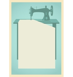 Sewing machine background vector image vector image