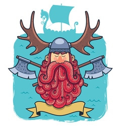 Viking Portrait vector image vector image