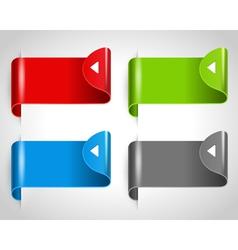 arrow stickers set vector image vector image