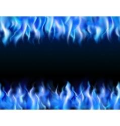 Blue Fire Tileable Borders vector image