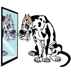 cartoon great dane dog vector image vector image