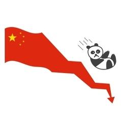 Chinas economy bubbles vector image