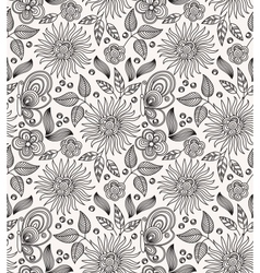 Decorative flower seamless background vector image vector image